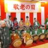 給田小学校の生徒さんが子供ばやしを披露しました。皆様「可愛かった」、「すごい、楽しかった」等、とても楽しめた会になりました。